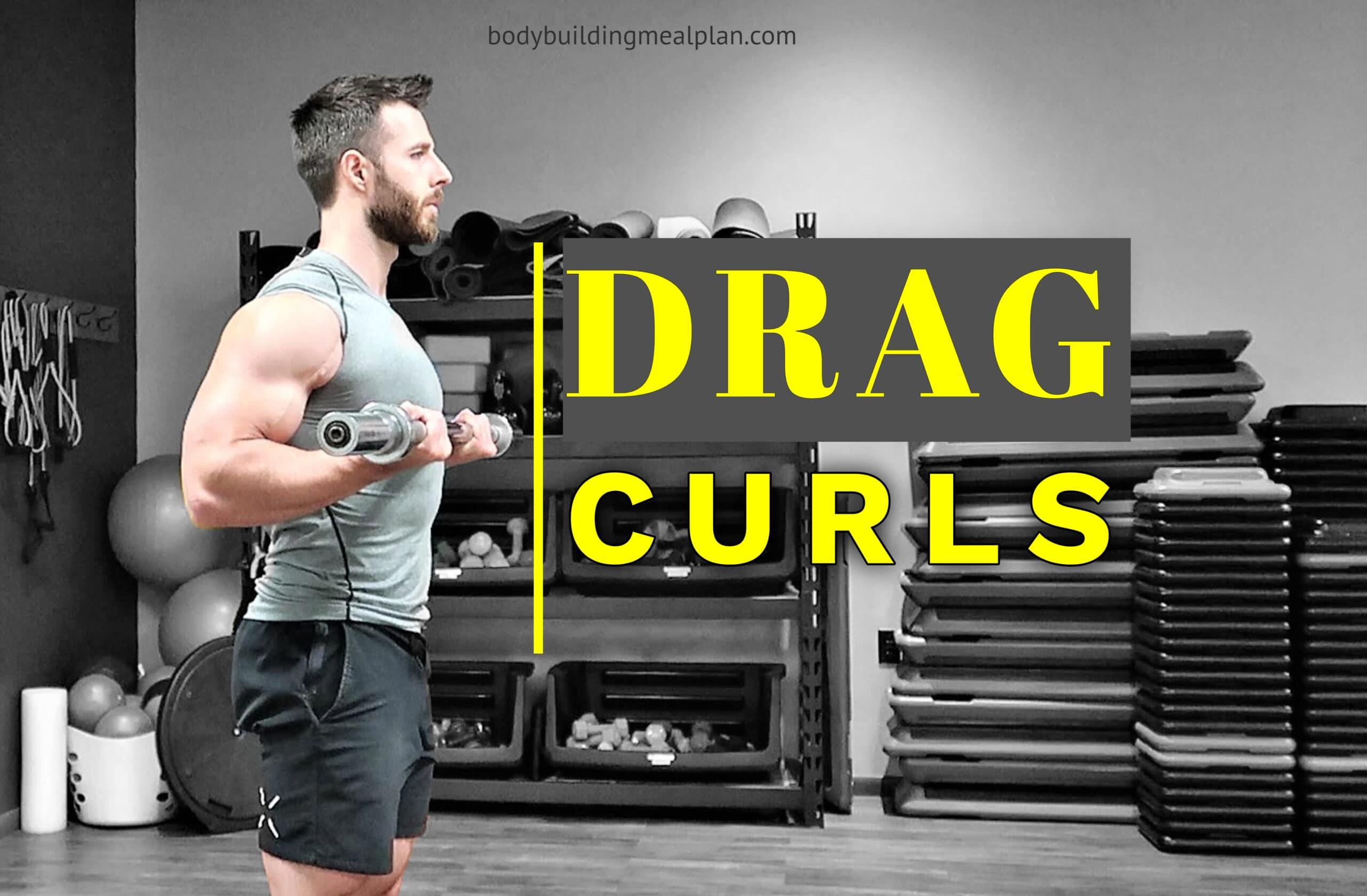 Barbell Drag Curls