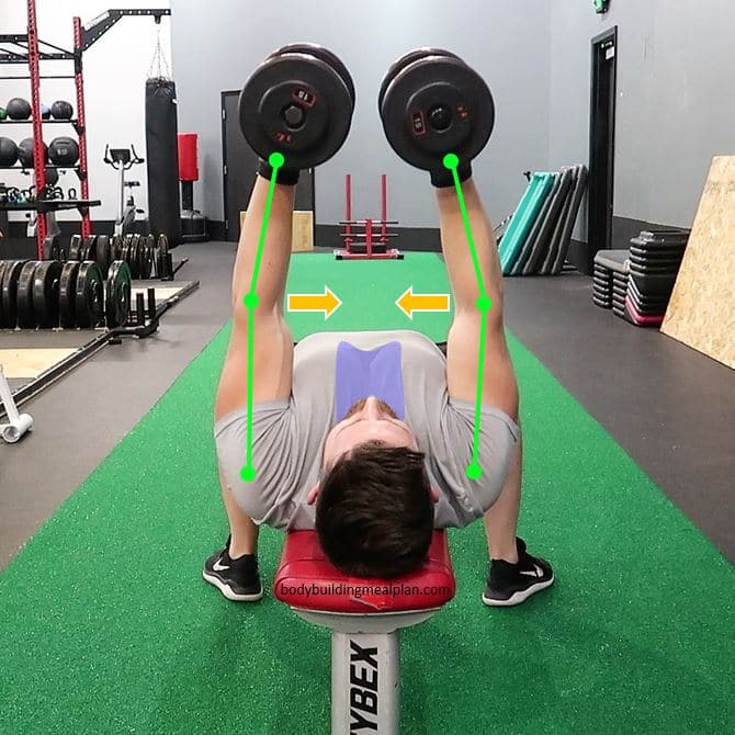 Dumbbell Fly Form Top
