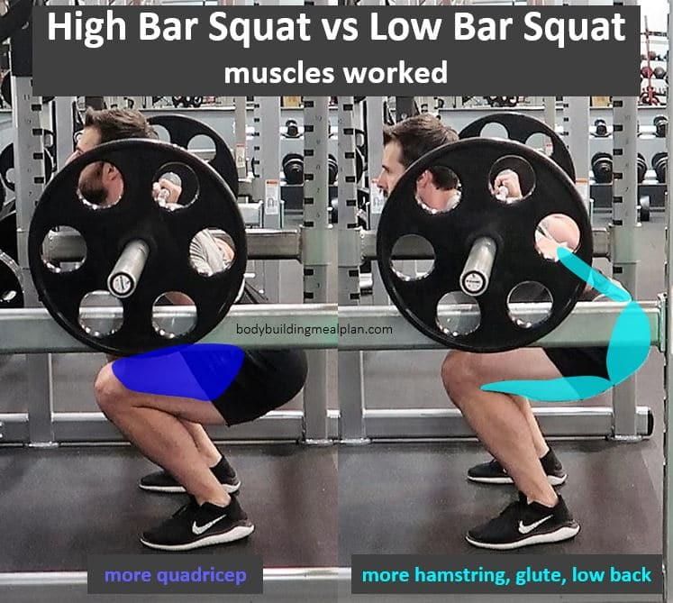 High Bar vs Low Bar Squat Muscles Worked