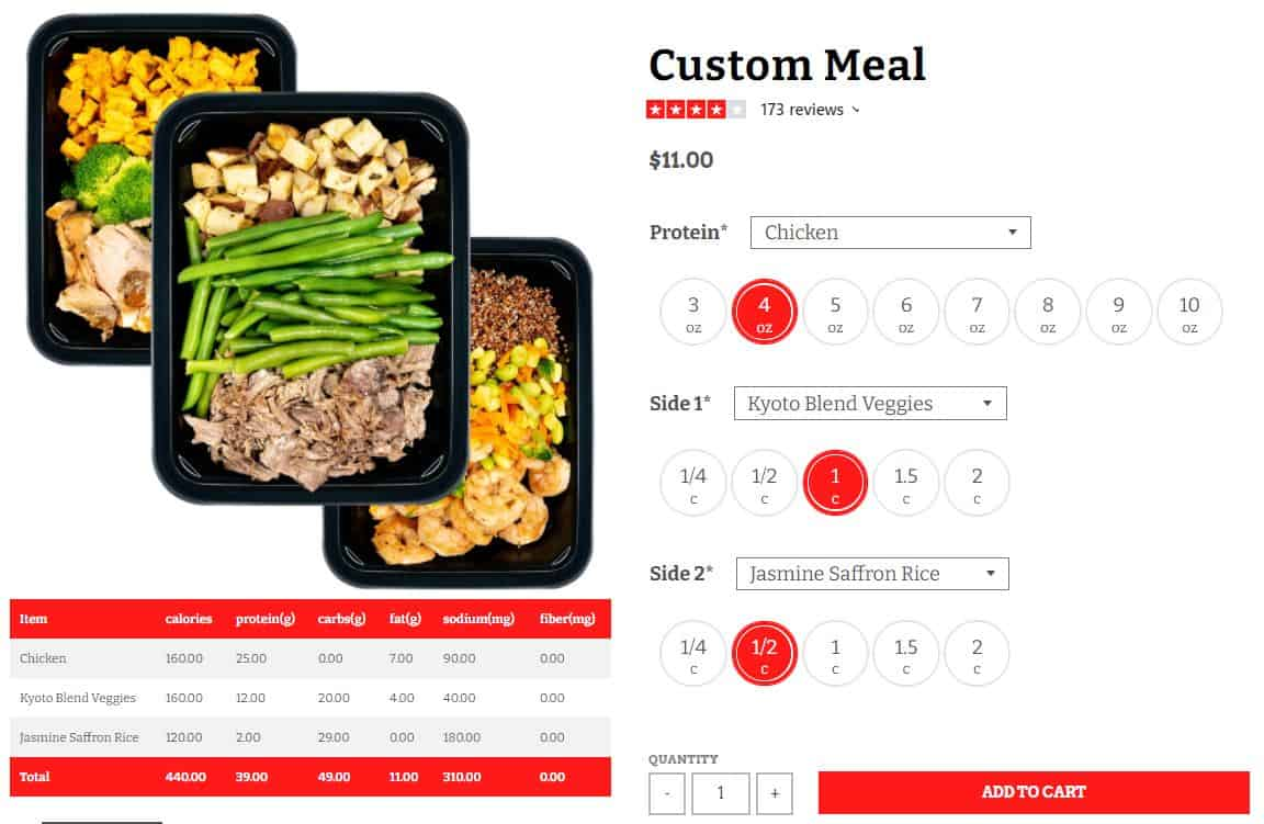 Icon Meals Custom Meal
