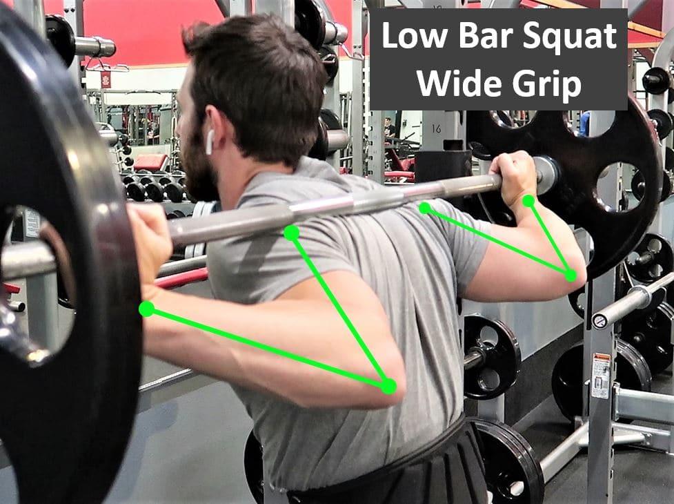 Low Bar Squat Wide Grip
