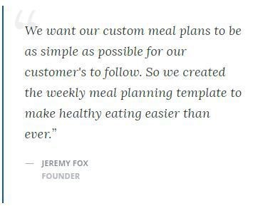 Weekly Meal Planner Template Quote