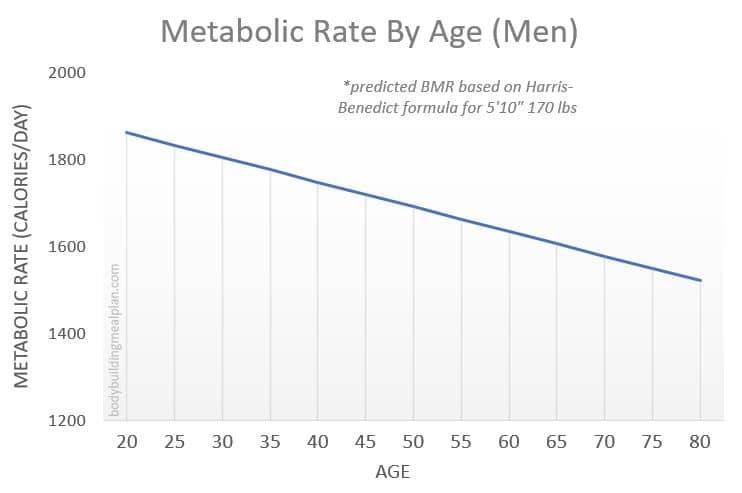 Metabolic Age Calculator - BMR By Age Men