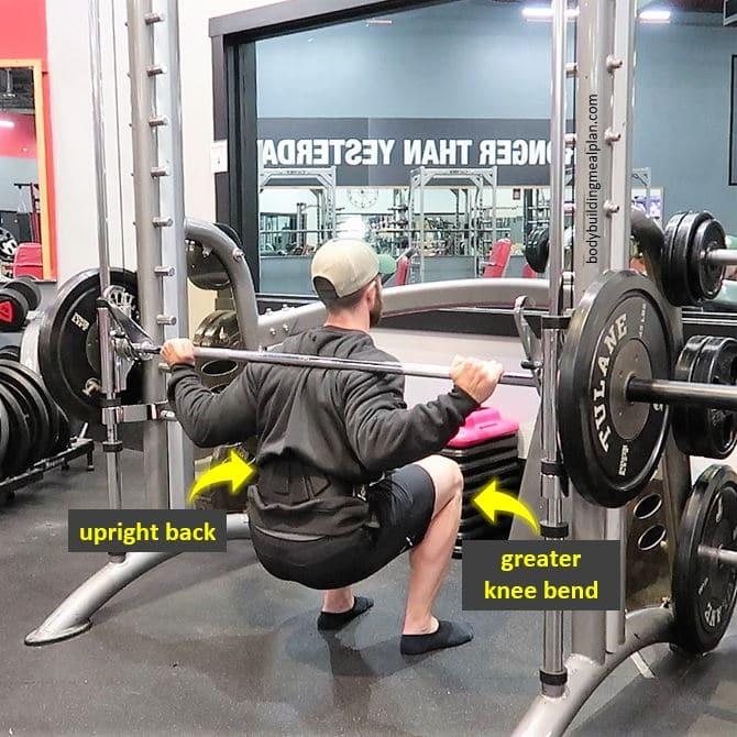Smith Machine Hack Squat Form Bottom
