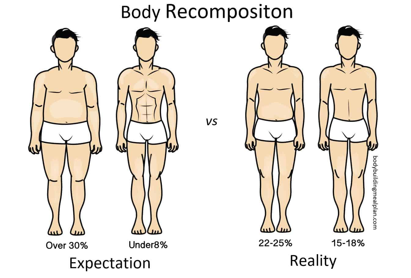body composition expectation vs reality