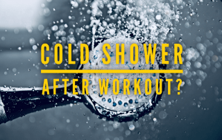 cold shower after workout