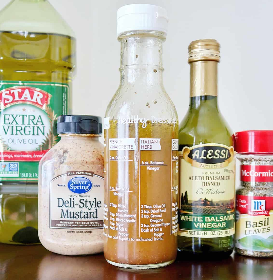 healthy grocery list salad dressing