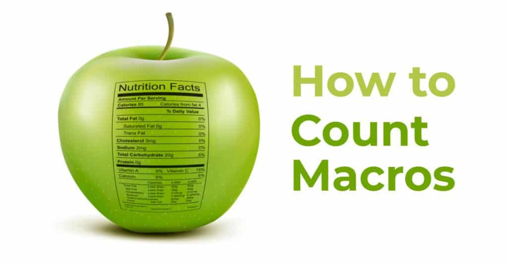 how to count macros for fat loss and muscle gain