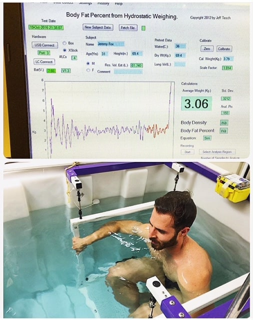body composition - hydrostatic weighing